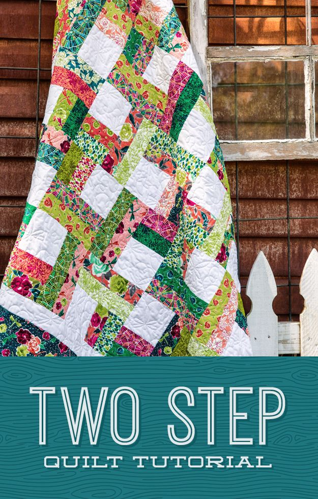 Two Step Quilt Tutorial   The Cutting Table Quilt Blog   Bloglovin'