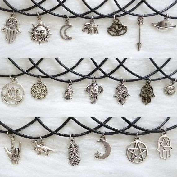Choker necklaces with charms / tumblr necklaces / boho chokers