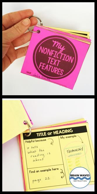 Students love creating this set of flip cards based on 12 nonfiction text features. The lesson begins with a search and find nonfiction text features scavenger hunt and ends with a pocket full of flip cards for each student. It's fun, engaging, and so educational! This is just one of six lessons in the Nonfiction Text Features resource!