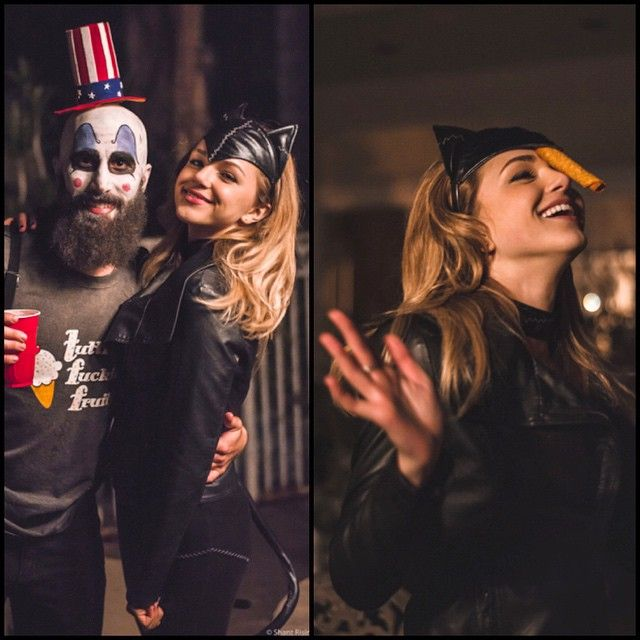 Paul And Oana at Halloween