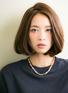 大人かわいい 前髪なしボブ 【drive for garden】 http://beautynavi.woman.excite.co.jp/salon/21107?pint ≪ #bobhair #bobstyle #hairstyle #bobhairstyle・ボブ・ヘアスタイル・髪型・髪形≫
