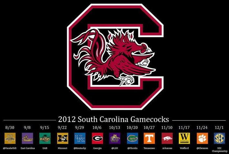 GAMECOCKS SCHEDULE
