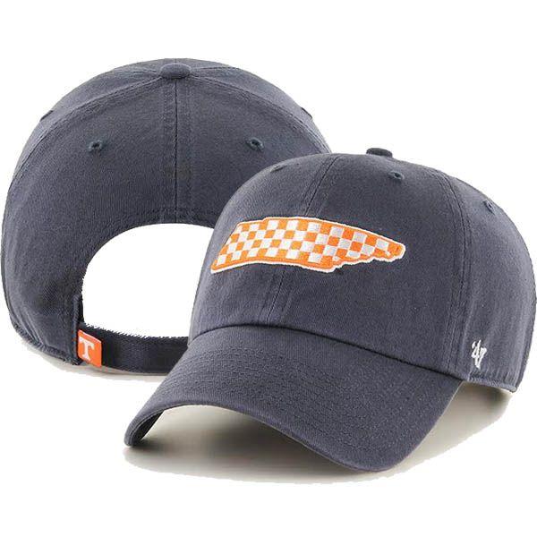 47' Brand Tennessee Volunteers Checkerboard State Clean Up Adjustable Hat (Vintage Navy)  Style Number: RGW49GWS-NV…