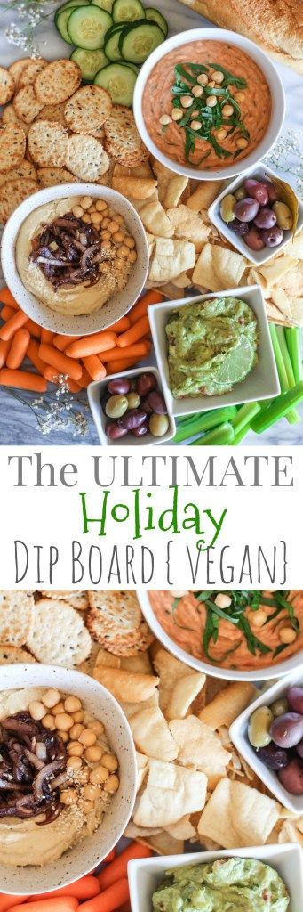 The Ultimate Vegan Holiday Dip Board - pumpkinandpeanutbutter