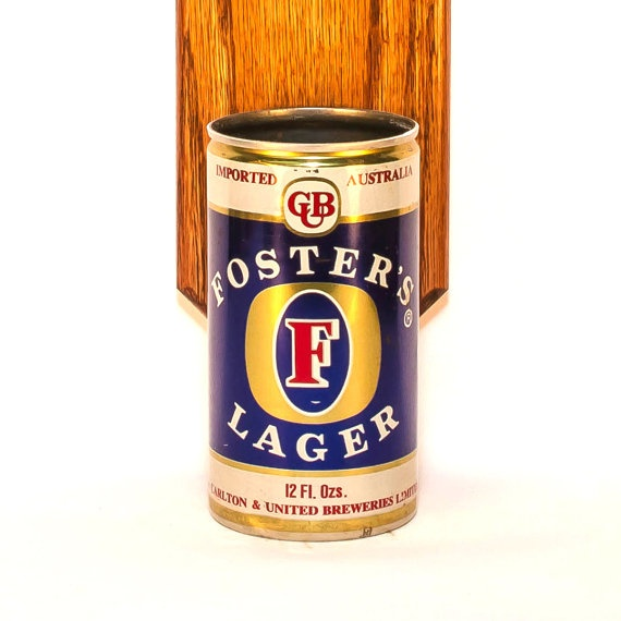 Fosters Australian Wall Mounted Bottle Opener with Vintage Foster Beer Can Cap Catcher - Gift for Groomsmen via Etsy