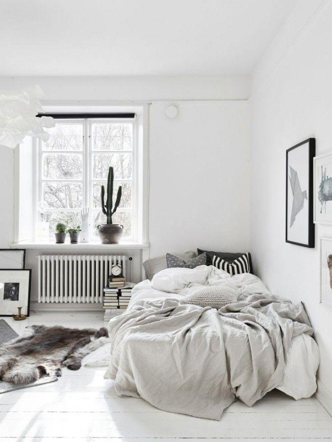Chambre tout en blanc : 19 idées de décor blanc cette pièce