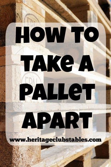 Pallets are the best invention ever for those of us who value the high cost of…