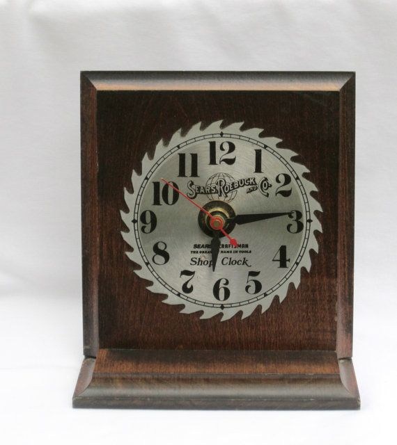 ❣∂ Sears Craftsman Steel Metal Saw Blade Shop Desk Clock Vintage Sears Ro... Affordable http://etsy.me/2cCvPPq