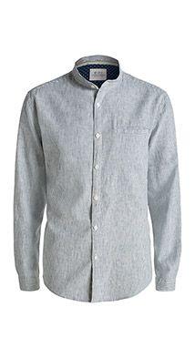 Esprit / Striped shirt in a linen blend