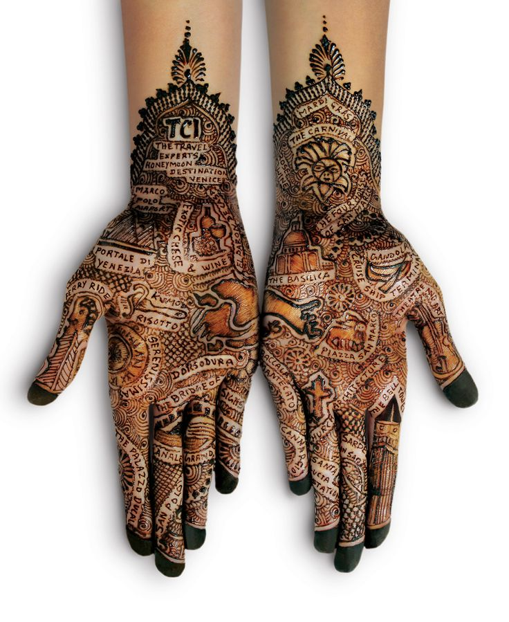 Henna Art - Map if Venice in Mehndi Sometimes temporary art is