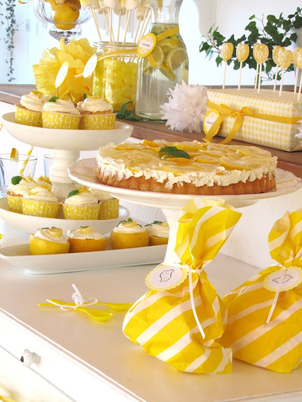 "Party theme ""Lemon""! Doing this for sister Lynn! We loooove Lemons!"