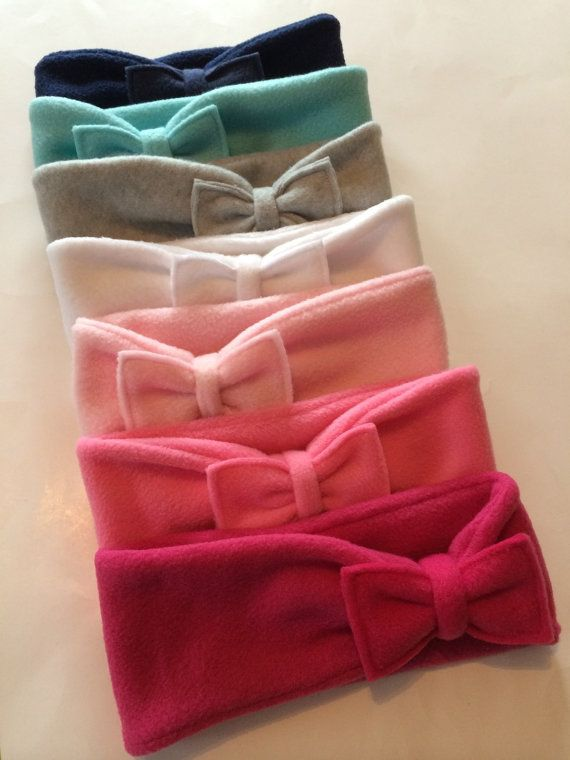 Fleece Ear Warmer Head Band with Mix & Match Bows