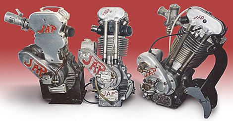 J.A.P. (J.A.Prestwich) Single Cylinder Motorcycle Engines... Made in Tottenham, England.