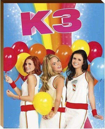 Muurstickers Kinderkamer K3.Posterboard K3 40x50 Ballonnen Nieuw Speelgoed New Toys