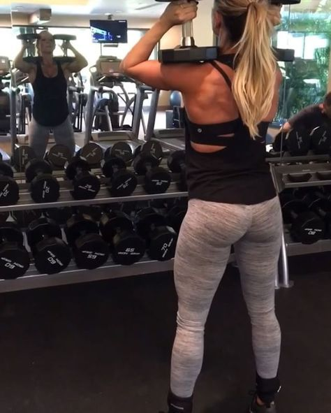 Two 30lbs on shoulders (start with weight that is most comfortable to you) Heels on 10lb plates (This will activate the glutes by helping you hit a deeper squat. ) 3 sets of 12-15 reps #letswork - My new July workouts are going live here in a few sort days! Sign up on my website as a member and join me for my July workouts for less than $5! WWW.PAIGEH...