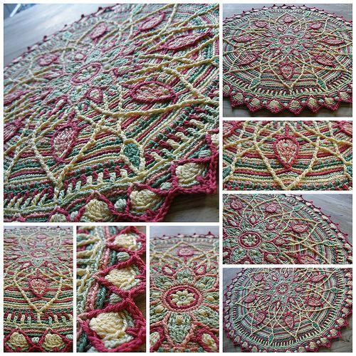 Sunrise overlay crochet mandala
