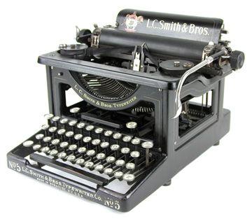 Typewritter LC Smith no 5Typewriters Ribbons, Typewriters Maquina De, Vintage Typewriters, Antiques Typewriters, Typewriters Keys