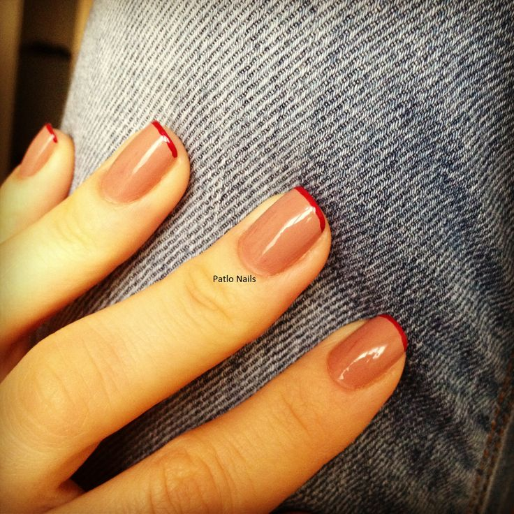 color french manicure. nail art. www.patloami.blogspot.com