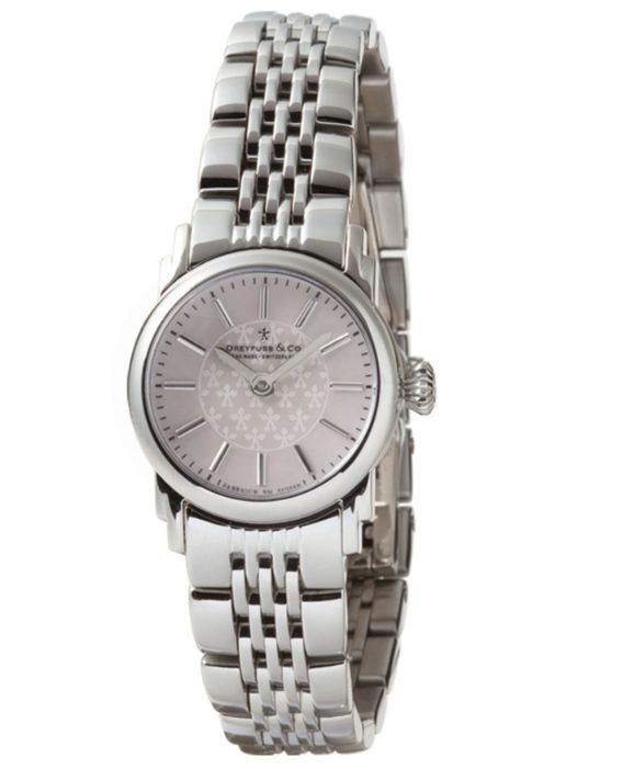 Dreyfuss & Co Ladies Light Pink Dial Bracelet Watch DLB00047/07