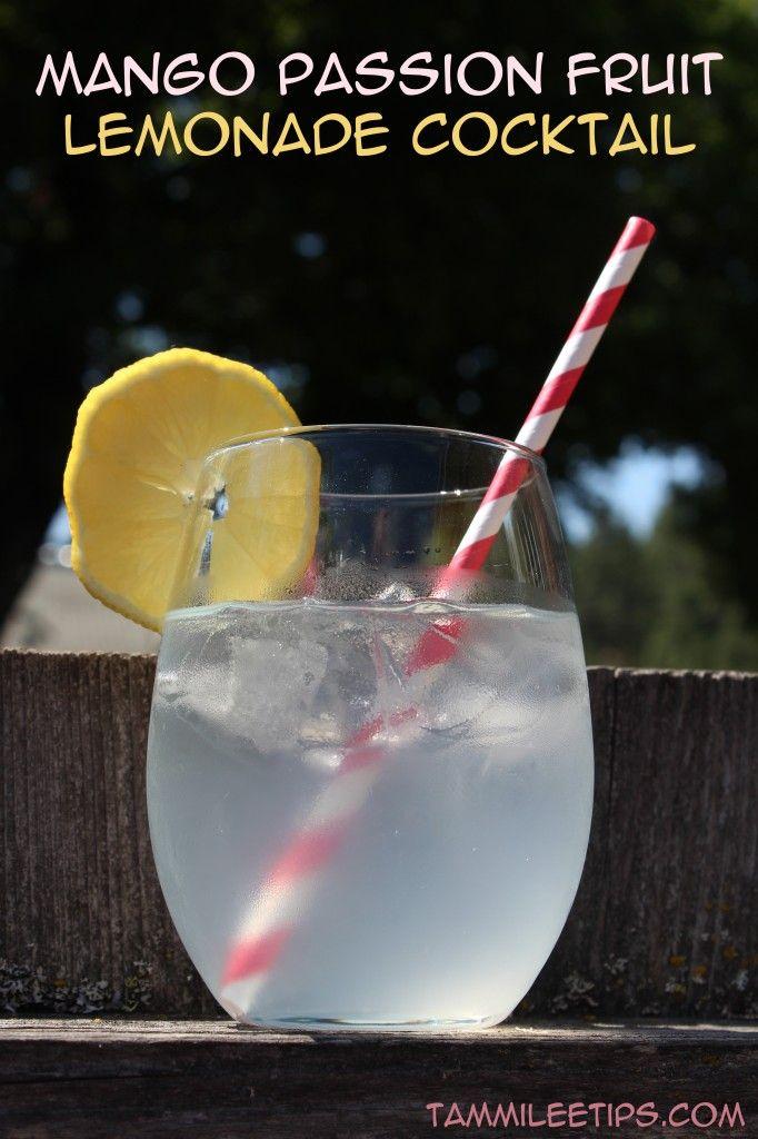 Mango Passion Fruit Lemonade Cocktail ~ Ingredients: 1.5 oz Smirnoff Sorbet Mango Passion Fruit Vodka, 8 oz Minute Maid Lemonade.