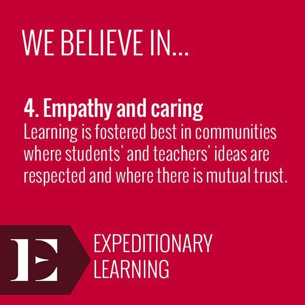 """we believe in empathy & caring"" - expeditionary learning"