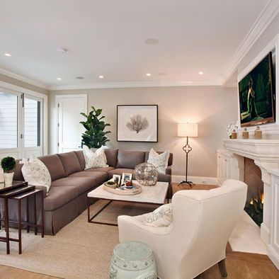25 best ideas about brown couch decor on pinterest for Black and brown living room designs