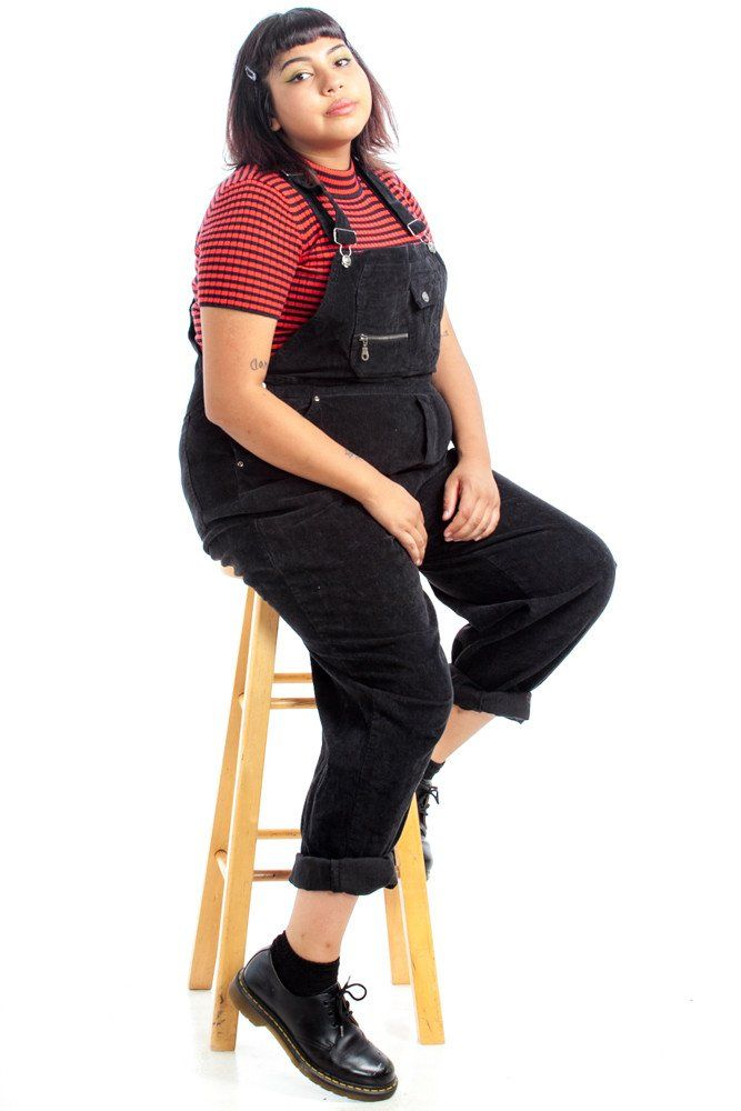 ItemVintage 90's Willow Rosenberg Corduroy Overalls DetailsTotally rad black corduroy overalls! Adjustable straps, lots of pockets - including a super...