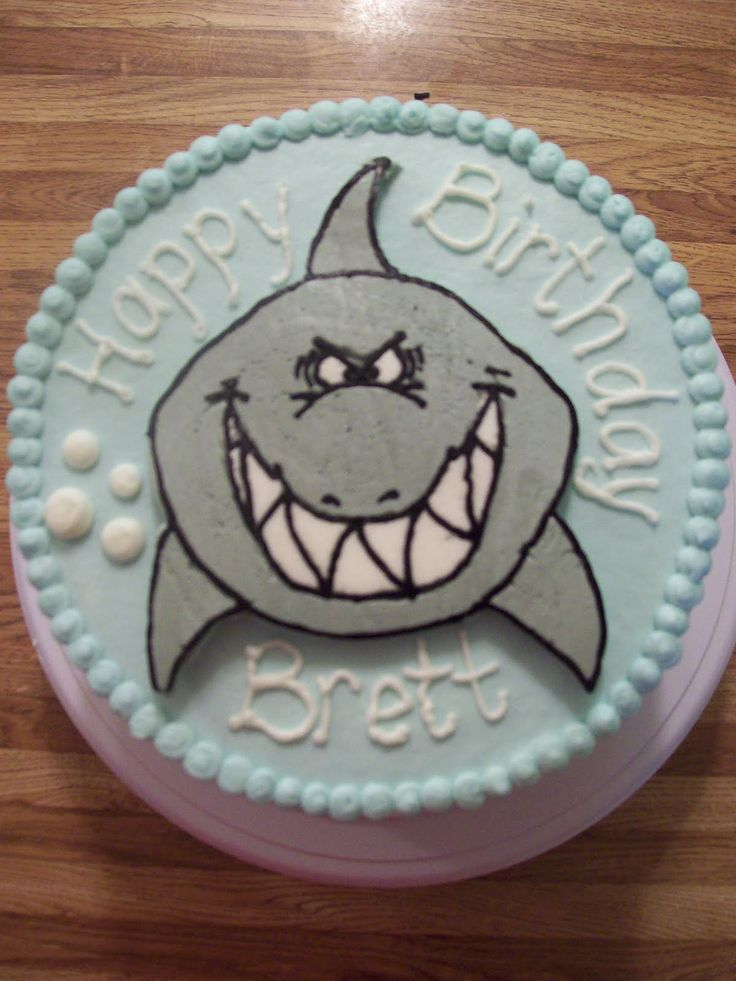 The Cake Box Shark Birthday Cake Dolphin Party