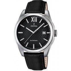 Montre Homme Festina Automatique F16885-4 Bracelet Cuir Noir