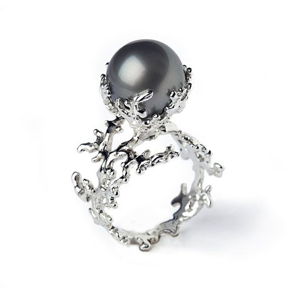 Image result for pearl black and white ring cartoon