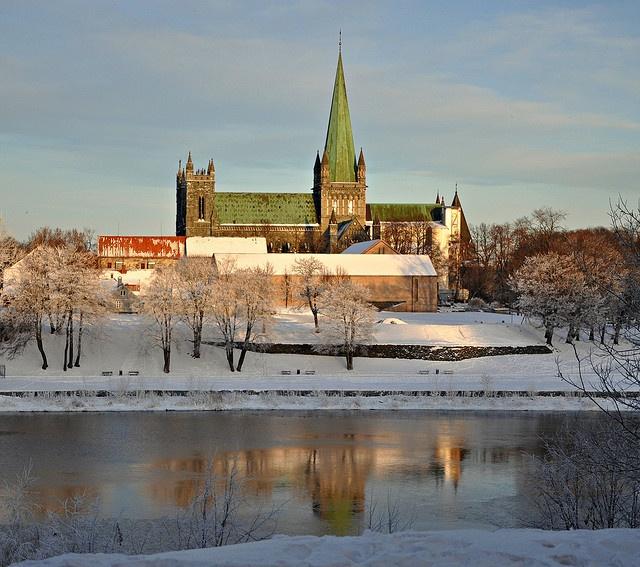 Nidarosdomen cathedral, Trondheim, Norway. This place is amazing!