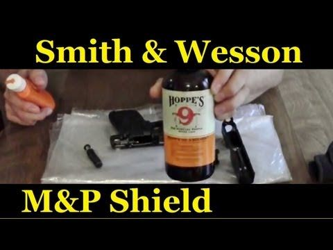How to clean your smith and wesson M&P 9mm Shield - YouTube