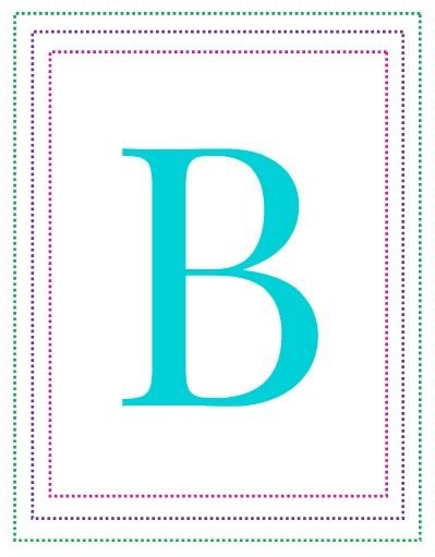 Large Printable Letter B - I'm gathering tons of preschool ideas & activities - these letters of the alphabet flash cards are the perfect preschool printables for letter recognition. We're printing them out for our hallway wall!