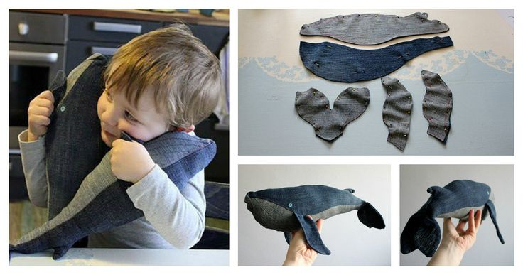 Don't throw unused denim jeans away. You can make a great Stuffed Baby Whale that kids would love for sure. Follow the link for detailed tutorial.