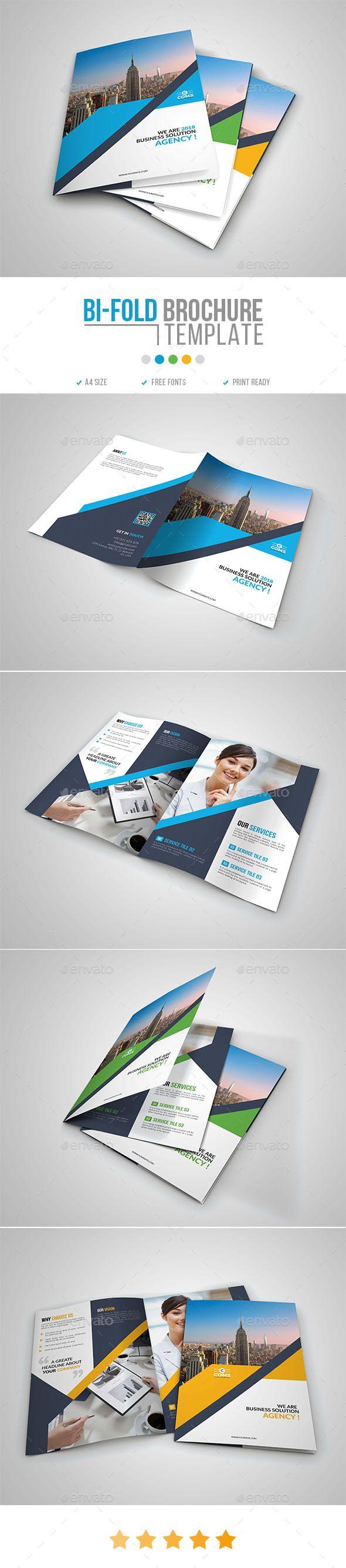 #Corporate #Bi-Fold #Brochure Template 11 - Corporate Brochures