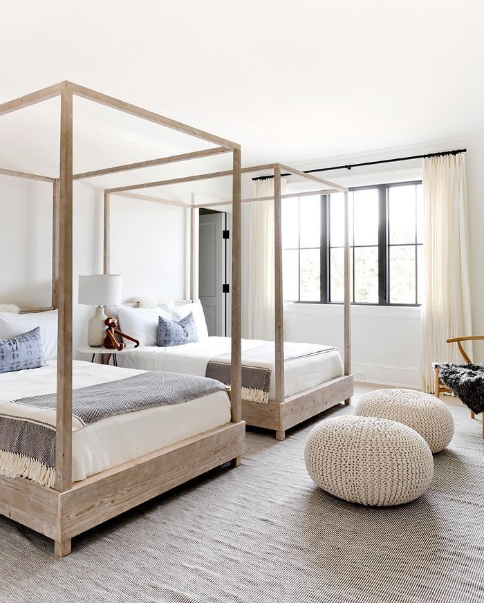 Beautiful contemporary bedroom in the Hamptons.