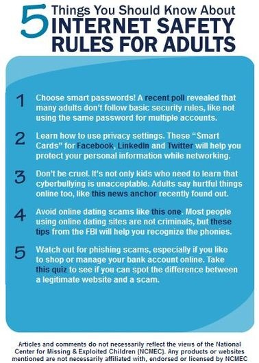 Internet safety rules for adults  To keep our children safe online    Internet Safety Tips For Adults