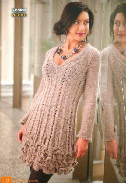 Модели вязания: Интересное платье