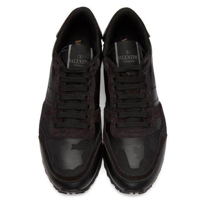 Valentino - Black Valentino Garavani Camo Rockstud Sneakers