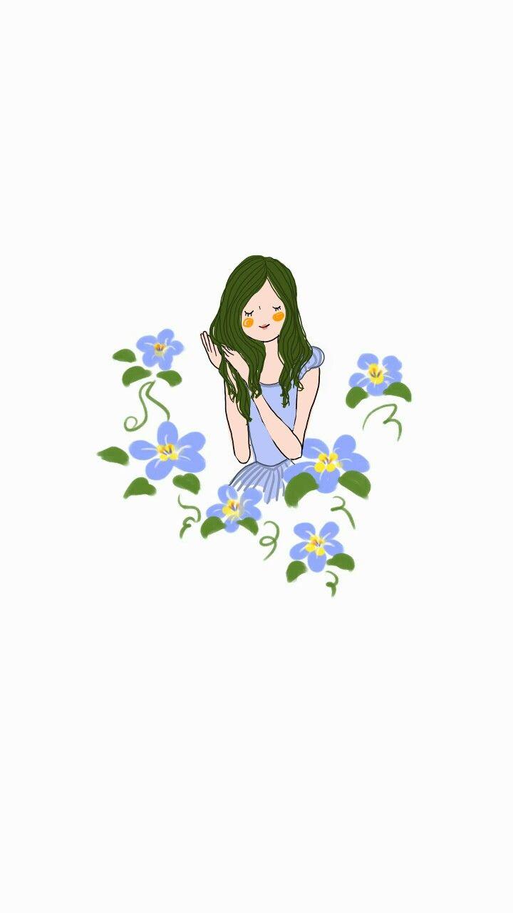 수줍은 소녀