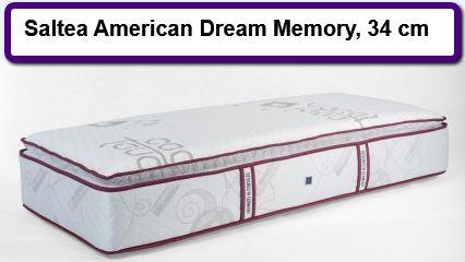 Saltea American Dream Memory, 34 cm