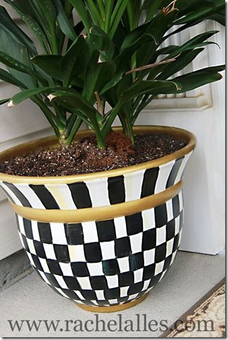 Create your own knock-off Mackenzie-Childs planter.