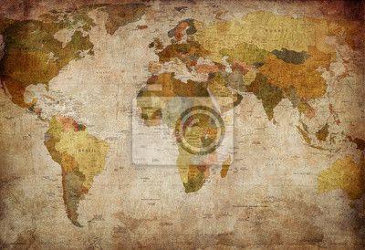 Fototapeta swiat mapa - budowa - świat - mapa • PIXERS.pl