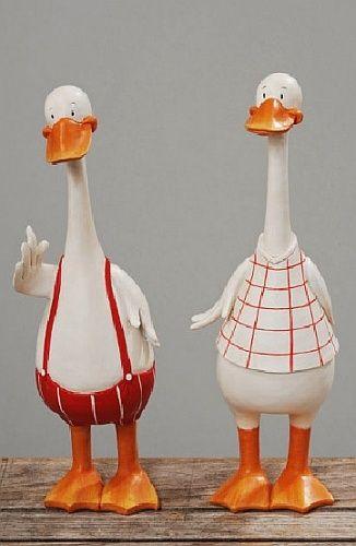 Treffen Sie unsere Entenfamilie. Das ist Pa und Ma … – Woondecoratie – #the …   – Keramische Kunst
