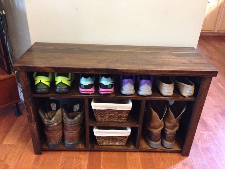 Rustic Cubby Bench/TV Stand by JRsCustomWoodwork on Etsy