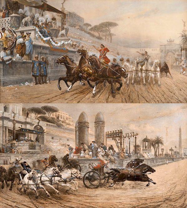 Paire de Gravures rehaussées - Ettore Forti - Italie XIXème siècle - VENDU - SOLD -