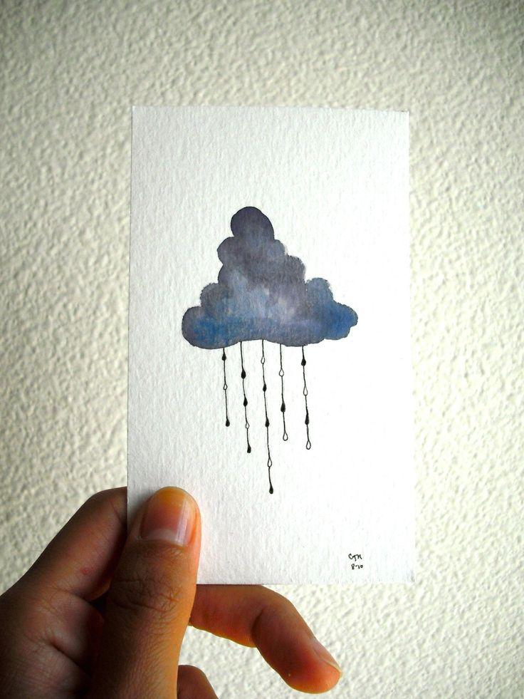 Water color rain cloud tattoo idea.
