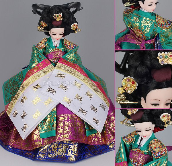 Korean Doll Wearing #Hanbok i want this one so bad!!!!!!!!!! Reminds me of my fave drama.