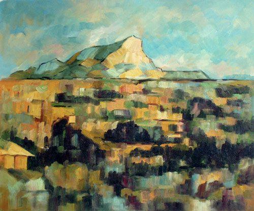 Mont Saint Victoire, different day , different light, Paul Cezanne