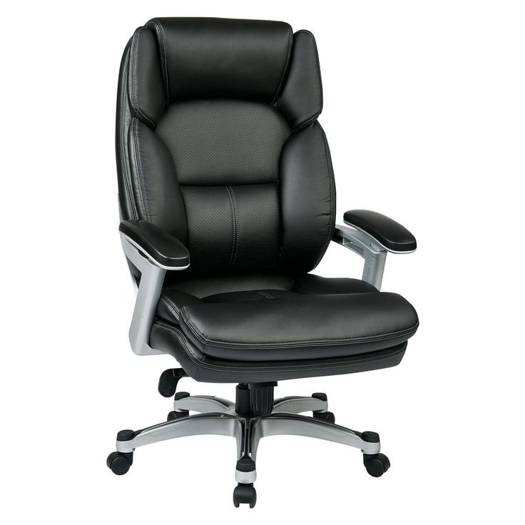 Executive Bonded Leather Chair, Black